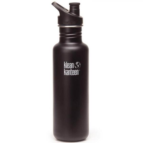 Klean Kanteen Trinkflasche Classic 0,8 L Schwarz Matt