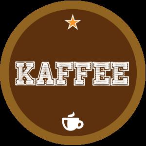 Kaffee-braun-rund