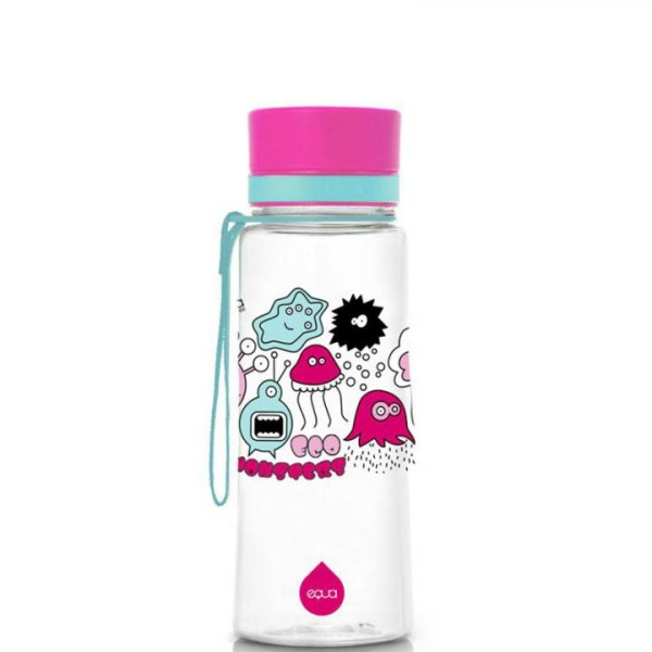 equa Trinkflasche für Kinder BPA-frei 0,4 L Pink