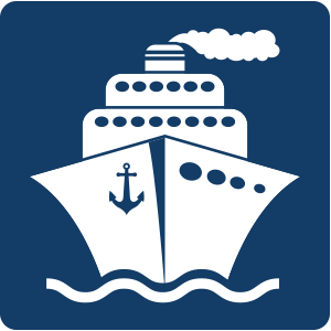 Schiff-dunkelblau