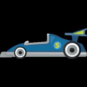 Rennauto-blau
