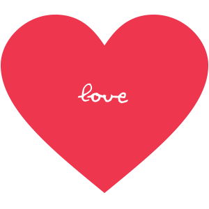 Herz-love-rot