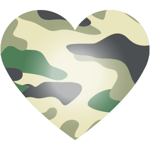 Camou Herz grün