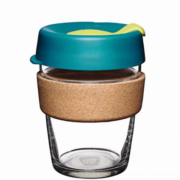 KeepCup Glas Trinkbecher mit Korkbinde Thermal