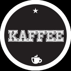 Kaffee Schwarz Rund