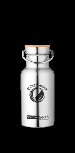 ECOTanka 0,35 Liter Thermotanka in Edelstahl mit Flachverschluss