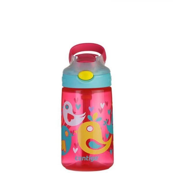 Contigo Trinkflasche Kinder mit Strohhalm - pink