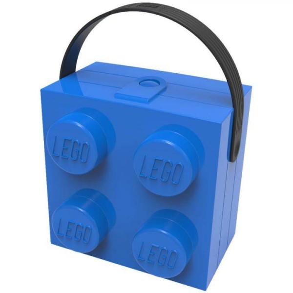 Lego Lunchbox mit Griff - blau