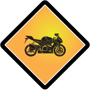 Motorrad-Schild