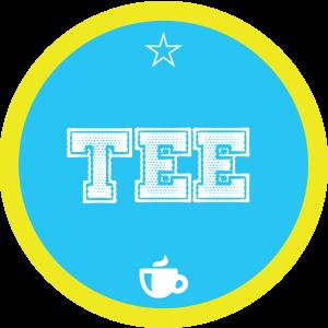Tee-blau-rund