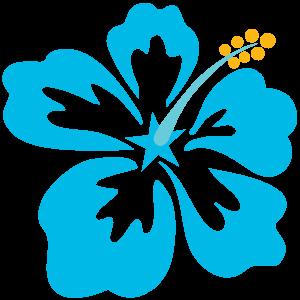 Hawaiiblume-blau