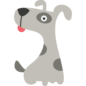 Hund-grau