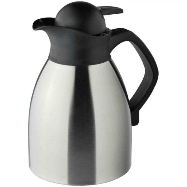Helios Enduro Push Isolierkanne Kaffee Edelstahl 1,0 L