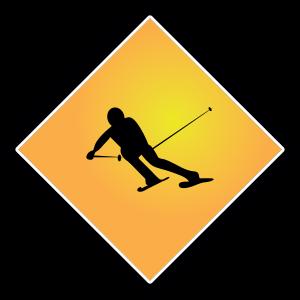 Ski-Schild