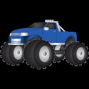 Monstertruck Blau