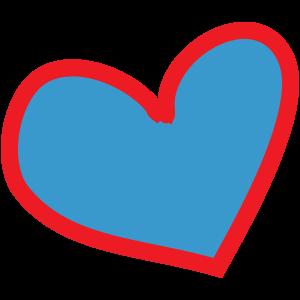 Herz-blau