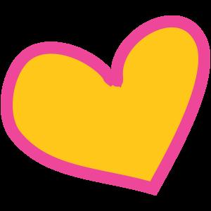 Herz-gelb