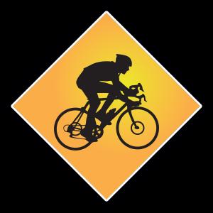 Rennrad-Schild