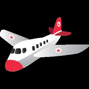 Flugzeug weiss