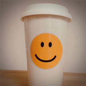 thermobecher personalisieren smiley