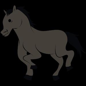 Pferd-dunkel
