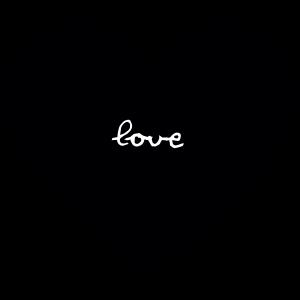 Herz-love-schwarz